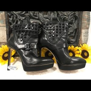 MICHAEL KORS Bryn Stud Stiletto Ankle Boot Size 7
